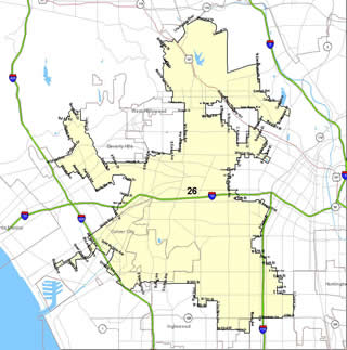 Map of 26th Senate District