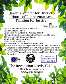 Jason Kishineff for U.S. Congress campaign flyer