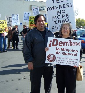 Anti-war Demonstration in Fresno, January 17, 2008
