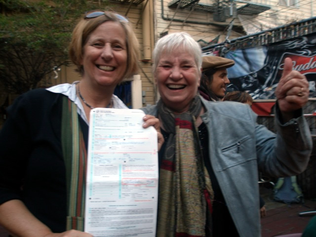 Cindy Sheehan and Nancy Keiler