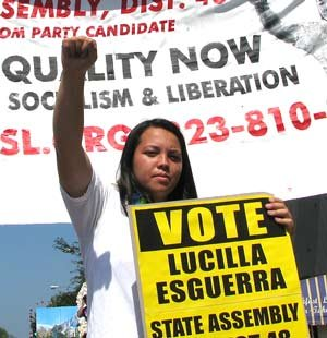 Picture of Lucilla Esguerra at rally